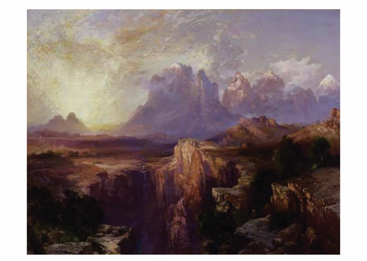 Thomas Moran: Rock Towers of the Rio Virgin Notecard