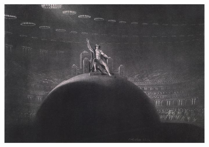 John Martin: Satan on His Throne Postcard