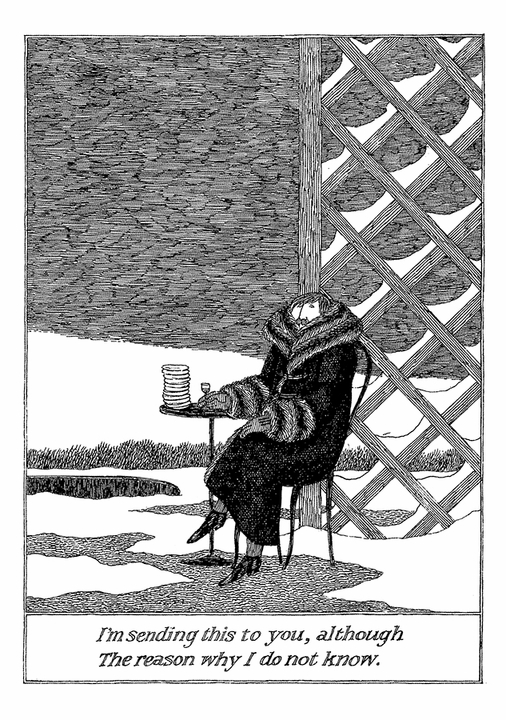 Edward Gorey: Sending This To You Notecard