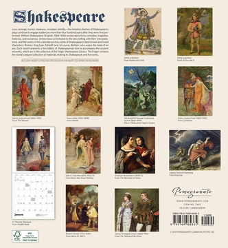 Shakespeare 2020 Wall Calendar