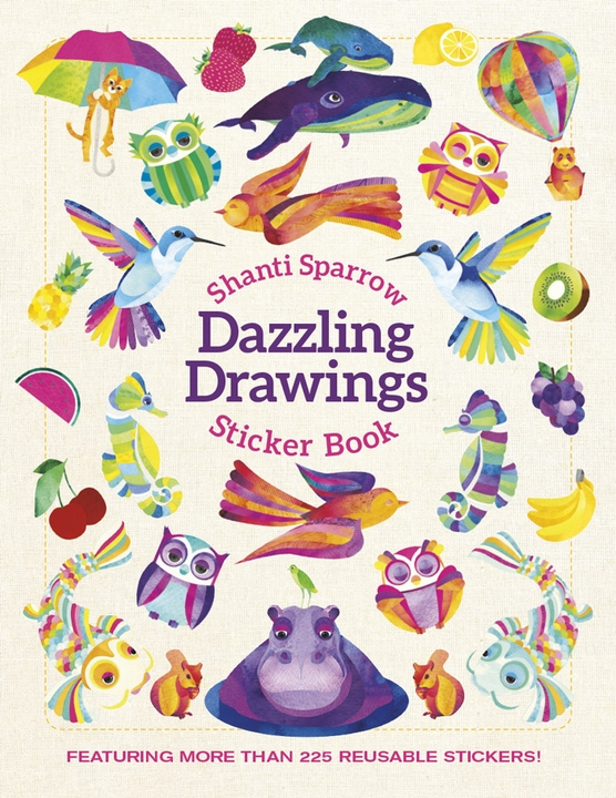 Shanti Sparrow: Dazzling Drawings Sticker Book