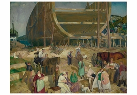 George Bellows: Shipyard Society Notecard