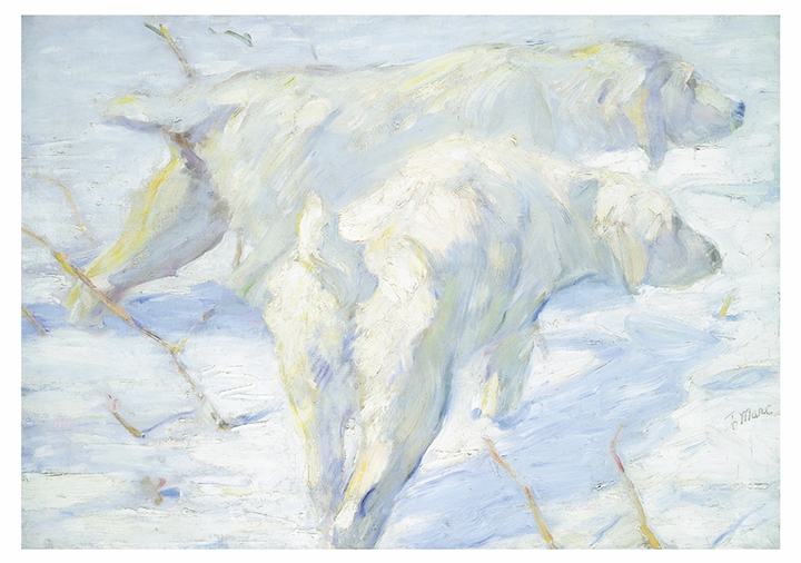 Siberian Dogs in the Snow Notecard