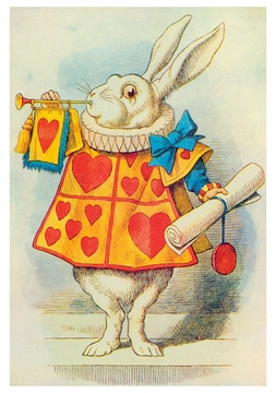Sir John Tenniel: The White Rabbit Birthday Card