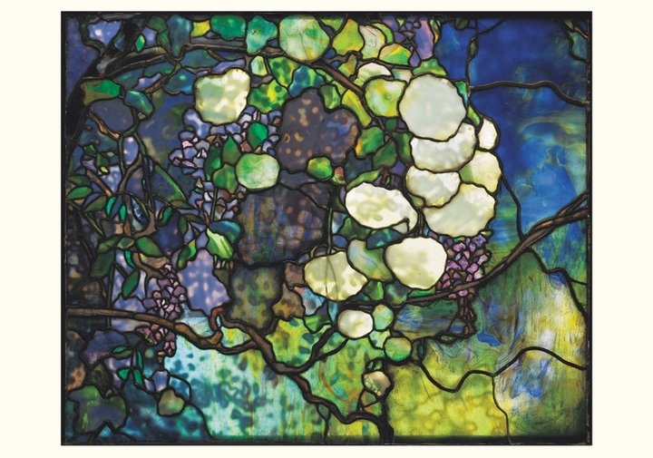 Louis Comfort Tiffany: Snowball Transom Notecard