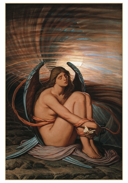 Elihu Vedder: Soul in Bondage Notecard