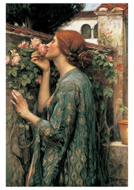 John William Waterhouse: The Soul of the Rose Notecard