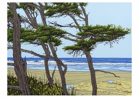 Steve and Bonnie Harmston: Yachats Notecard