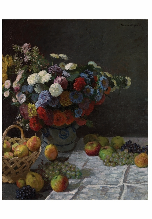 Claude Monet: Still Life with Flowers and Fruit Notecard