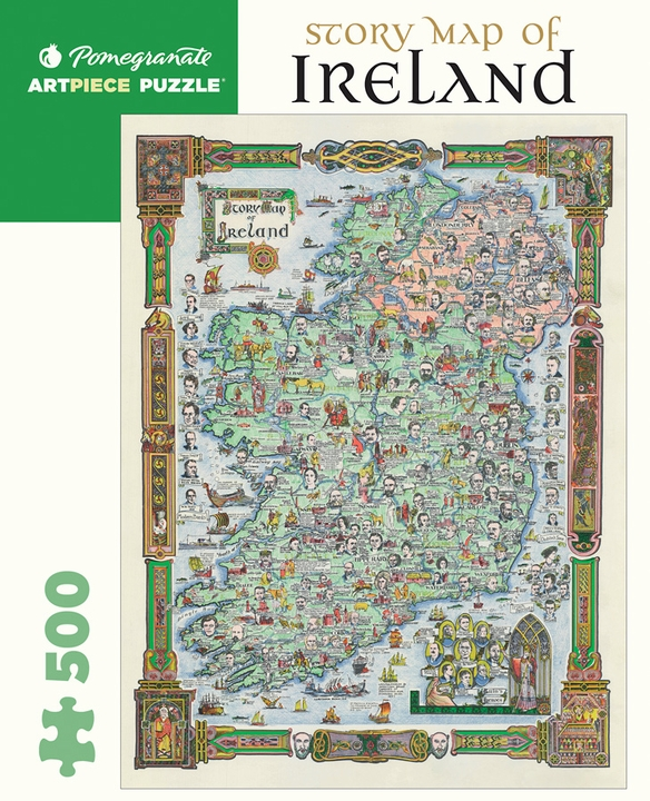 Story Map of Ireland 500-piece Jigsaw Puzzle