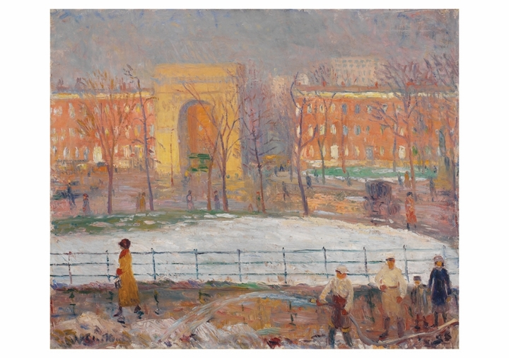 William Glackens: Cleaners, Washington Square Notecard