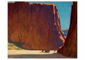 Edgar Payne: Sunset, Canyon de Chelly Notecard