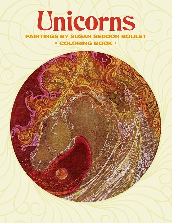 Susan Seddon Boulet: Unicorns Coloring Book