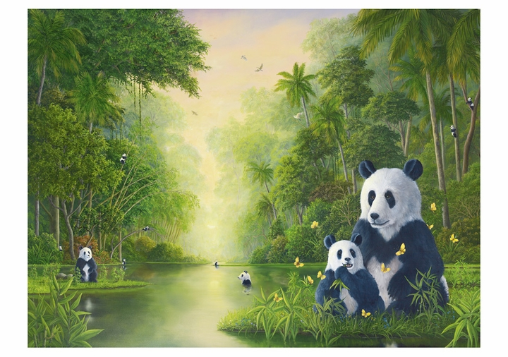 Robert Bissell: The Bamboo River Notecard