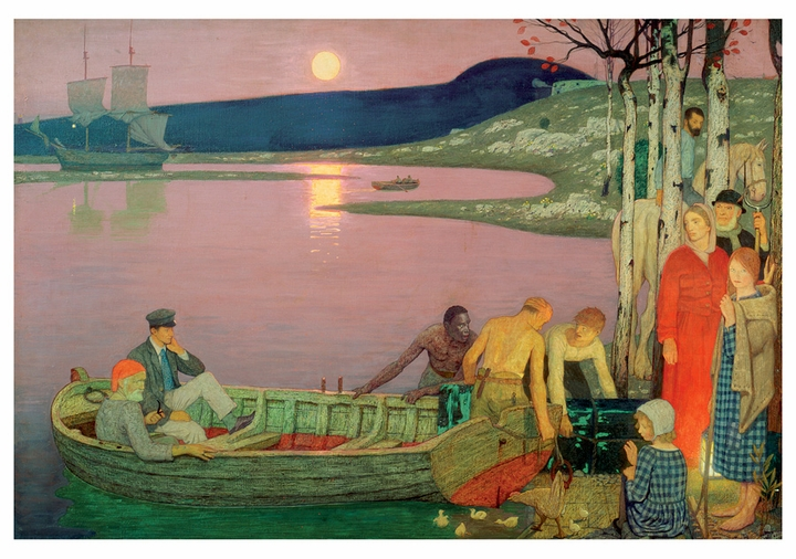 Frederick Cayley Robinson: The Call of the Sea Notecard