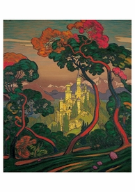 Claude Francis Barry: The Castle of Zenda Notecard