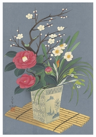 Bakufu Ohno: Flowers in Vase (Winter) Notecard