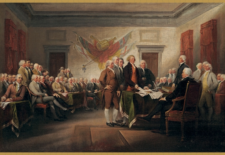 The Declaration of Independence 1000-piece Jigsaw Puzzle
