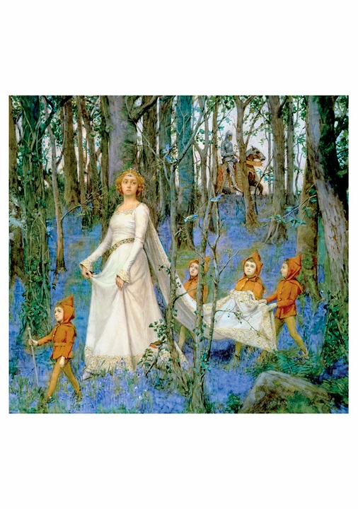 Henry Meynell Rheam: The Fairy Woods Notecard
