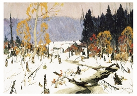Clarence Gagnon: The First Snow Notecard