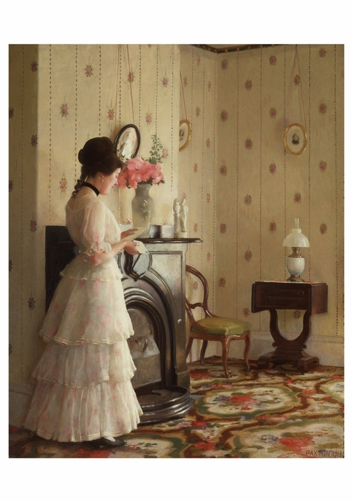 William McGregor Paxton: The Front Parlor Notecard