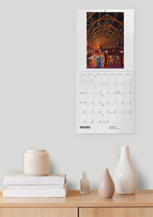 The Intricate Paintings of Mike Wilks 2022 Wall Calendar