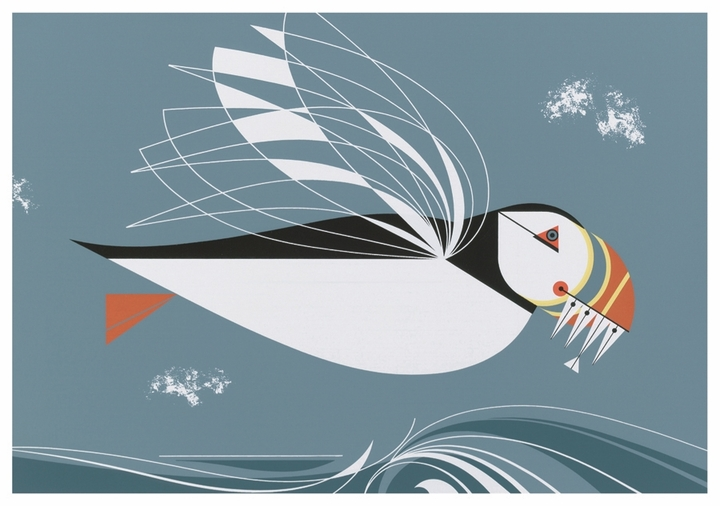 Charley Harper: The Name Is Puffin Notecard