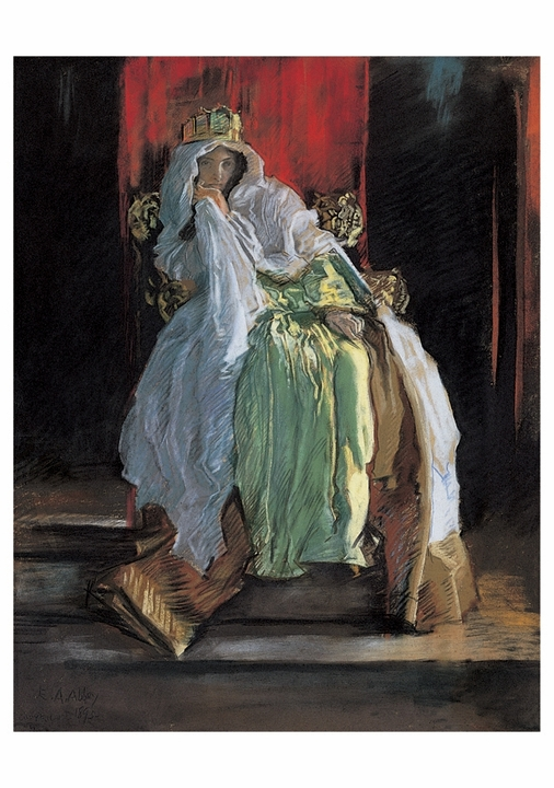 "Edwin Austin Abbey: The Queen in ""Hamlet"" Notecard"