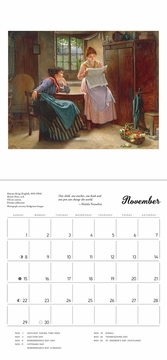 The Reading Woman 2020 Mini Wall Calendar