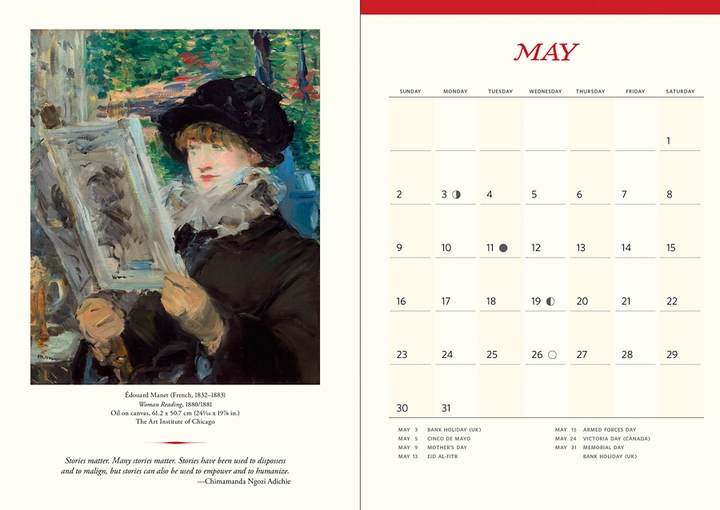 The Reading Woman 2021 Engagement Calendar