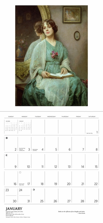 The Reading Woman 2022 Wall Calendar