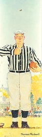 Norman Rockwell: The Referee (The Toss) Bookmark
