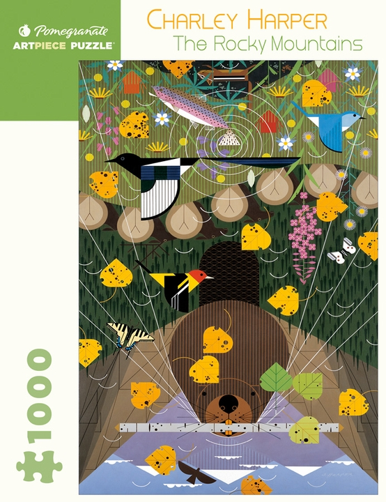 Charley Harper: The Rocky Mountains 1,000-piece Jigsaw Puzzle