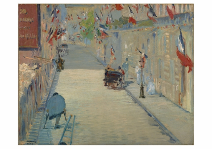 The Rue Mosnier with Flags Notecard