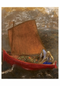 Odilon Redon: The Yellow Sail Notecard