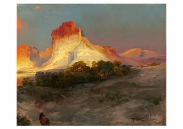 Thomas Moran: Green River Cliffs, Wyoming Notecard