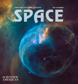 Space: Views from the Hubble Telescope 2021 Wall Calendar
