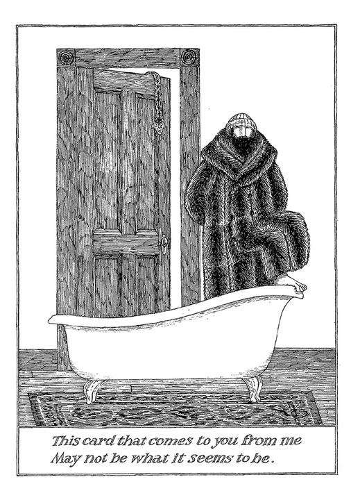 Edward Gorey: To You From Me Notecard