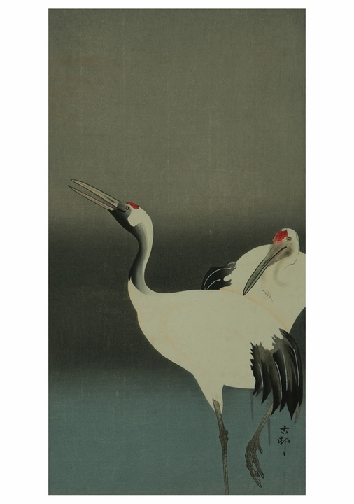 Two Cranes Notecard