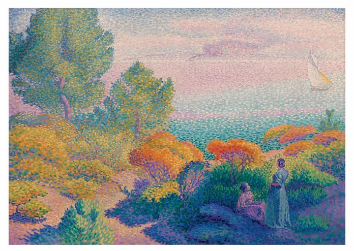 Two Women by the Shore, Mediterranean Notecard