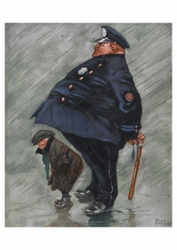 Under Police Protection Postcard