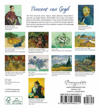 Vincent van Gogh 2020 Mini Wall Calendar