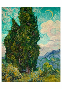 Vincent van Gogh: Cypresses Notecard