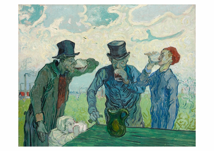 Vincent van Gogh: The Drinkers Postcard