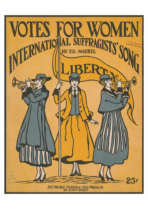 Votes for Women International Suffragists' Song Postcard