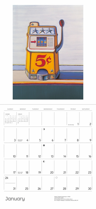 Wayne Thiebaud 2021 Wall Calendar