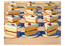 Wayne Thiebaud: Boston Cremes Notecard