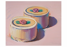 Wayne Thiebaud: Rosebud Cakes Birthday Card