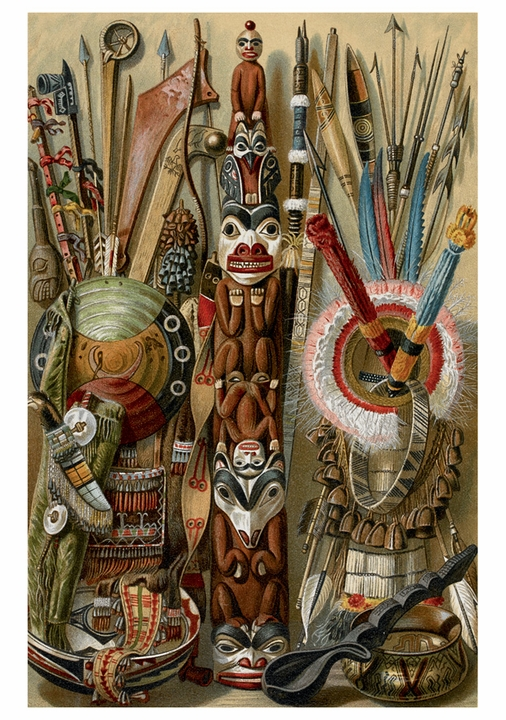 Weapons, Utensils and Ornaments of American Indians Notecard