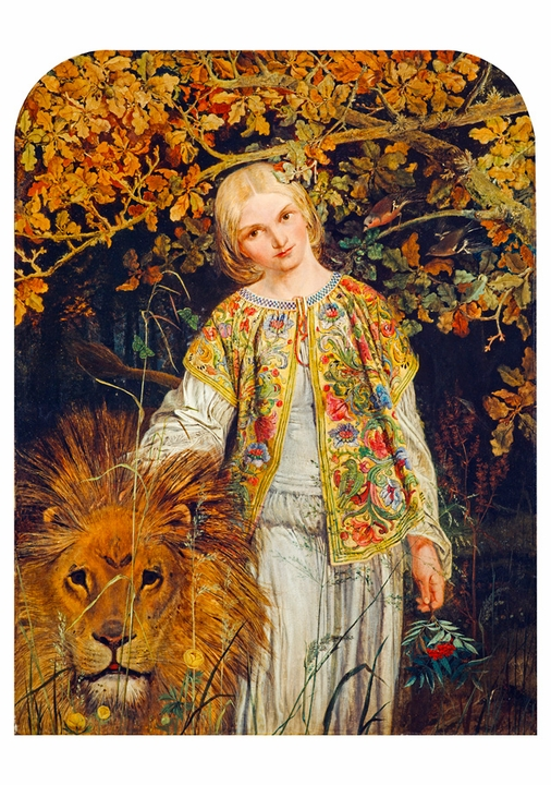 William Bell Scott: Una and the Lion Notecard